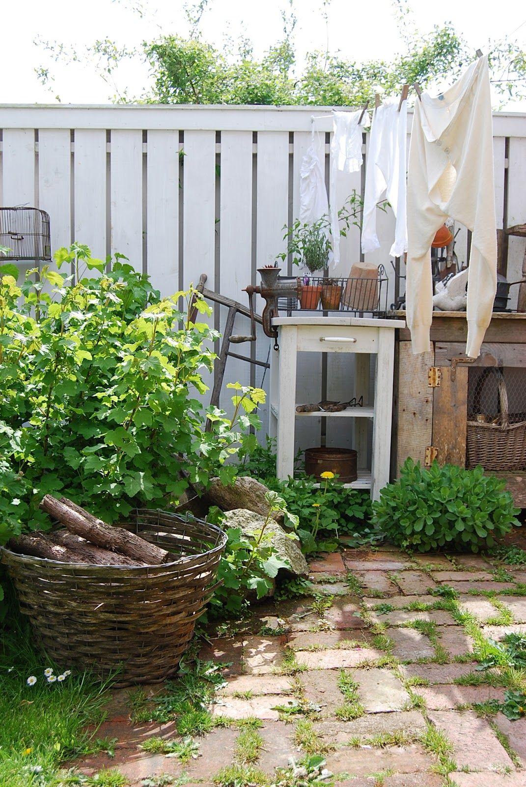 hvítur lakkrís clothesline near potting bench good use of small