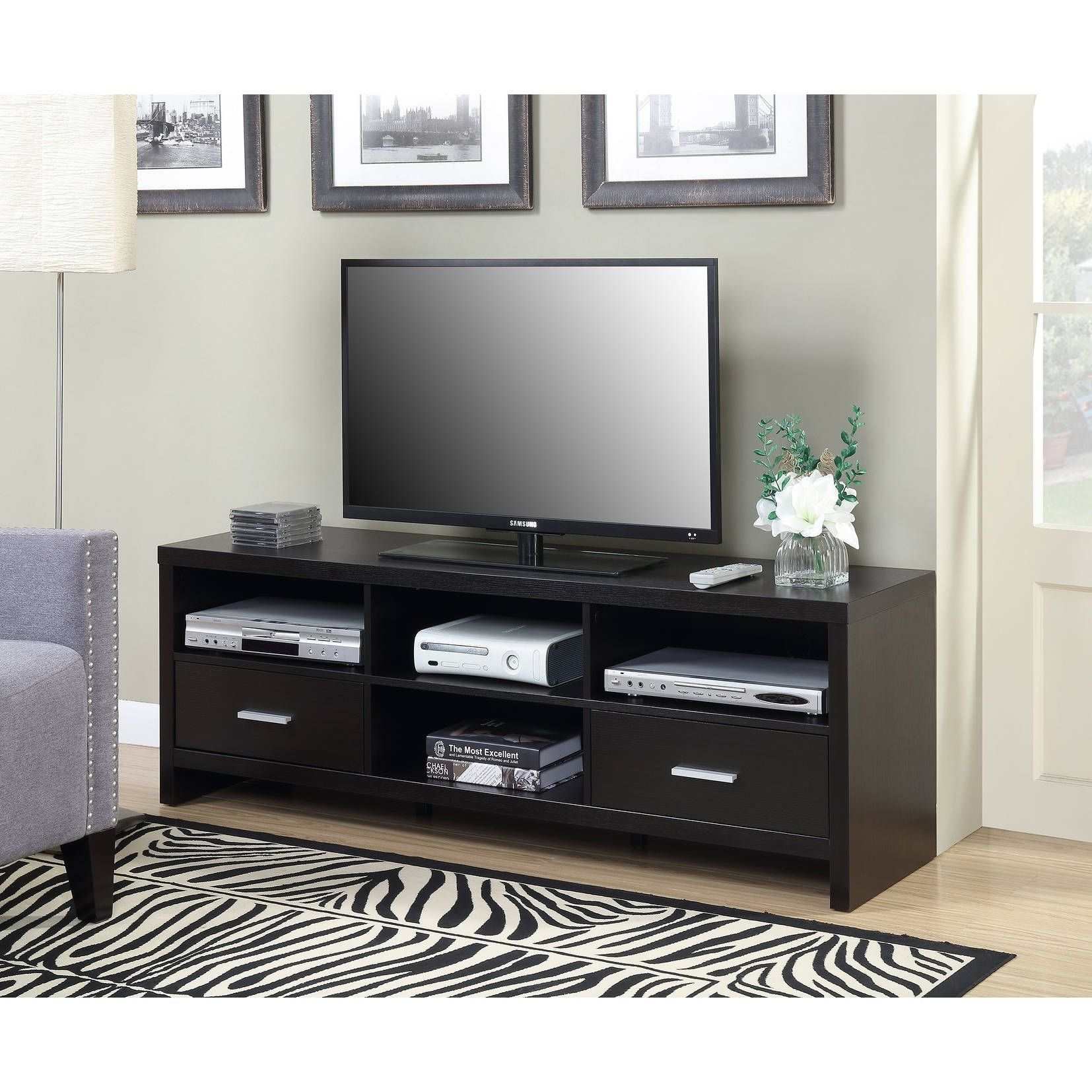 Convenience Concepts Designs2go Key West 60 Inch Tv Stand Espresso Finish