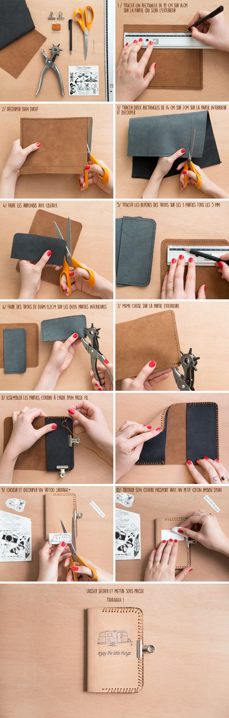 Diy leather passport holder with temporary tattoo tutorial do it diy leather passport holder with temporary tattoo tutorial solutioingenieria Images