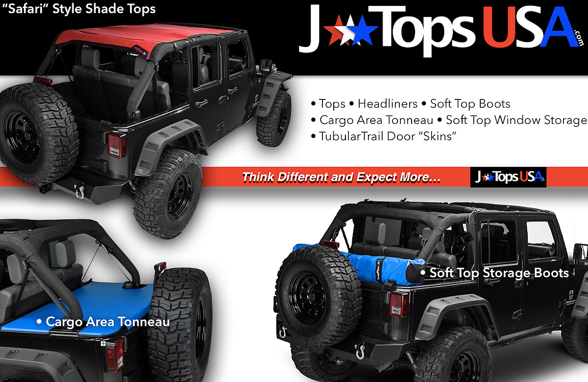 Jtopsusa Jeep Shade Tops Storage Boots Tonneau Covers