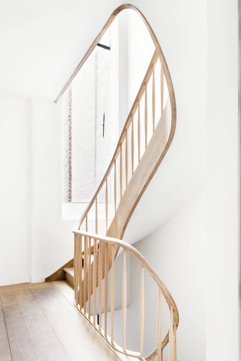 Best Sculptural Curving Stairway Keyserrijck By Aidarchitecten 400 x 300