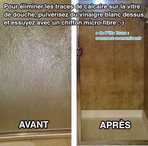 L 39 astuce pour enlever facilement les traces de calcaire sur les vitres de - Enlever le calcaire des toilettes ...