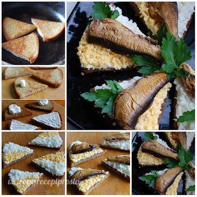 гренки со шпротами рецепт с фото