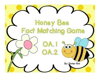 Math center matching game for OA.1 and OA.2