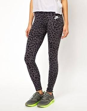 Nike leopard workout tights! <3 my favorite to work out in, so comfy and cute!
