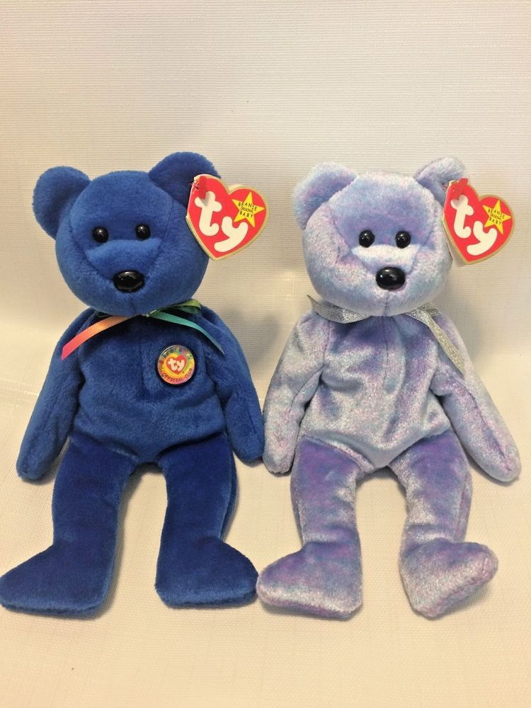 ca0c28f59b4 NWT RARE  Clubby   Clubby II  Beanie Baby Set - Limited Editions  TY ...