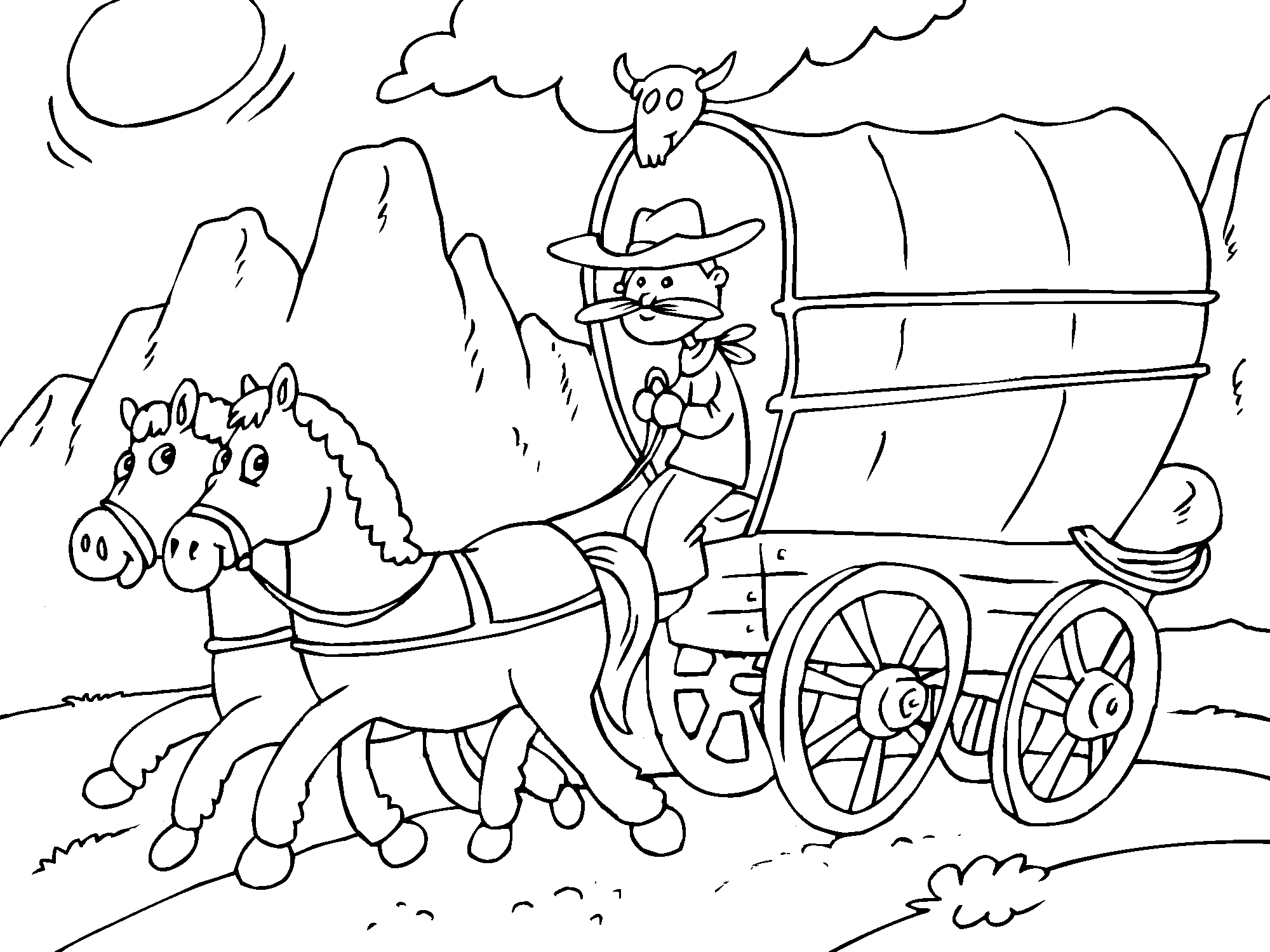 Horse And Wagon Coloring Page Online Coloring Pages Online Coloring Coloring Pages