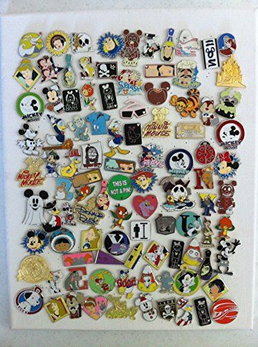 25  No Duplicates Lapel Collector Pins Disneylan Disney Pins Trading Lot of 200