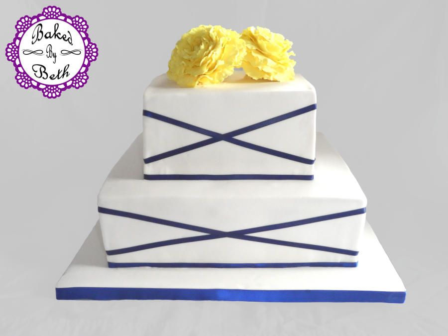Simple classy wedding cake - Cake by BakedbyBeth