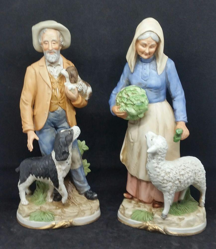 Vintage Homco Home Interior Figurine 8811 Harvest Time Old Couple