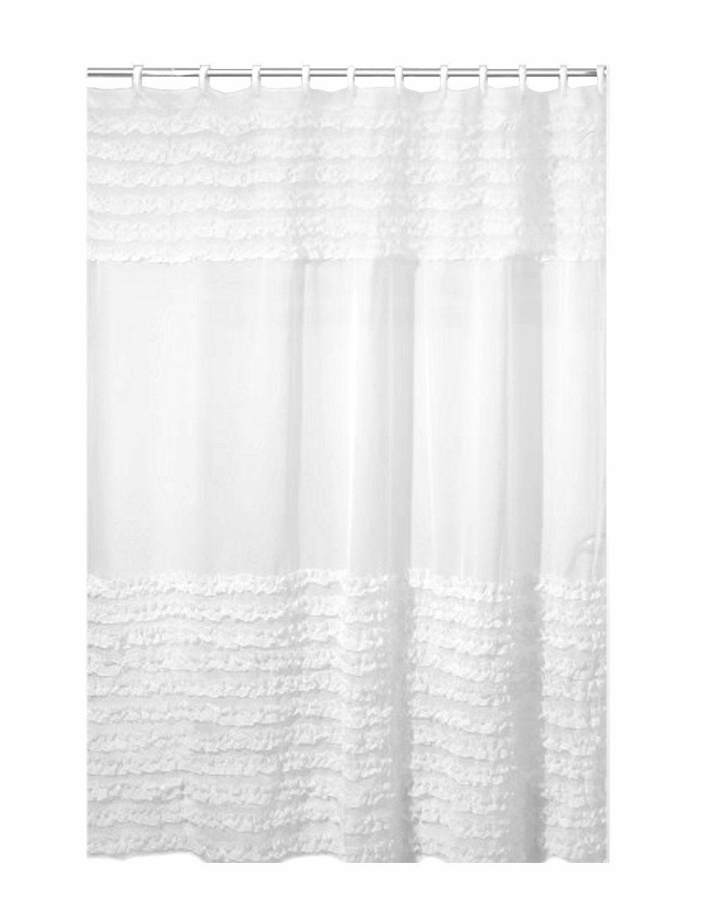 Amazon Com Creative Bath Products Ruffles Shower Curtain 72w X