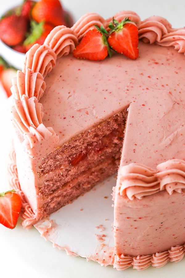 Homemade Strawberry Cake Recipe | Ultimate Strawberry Lovers Cake