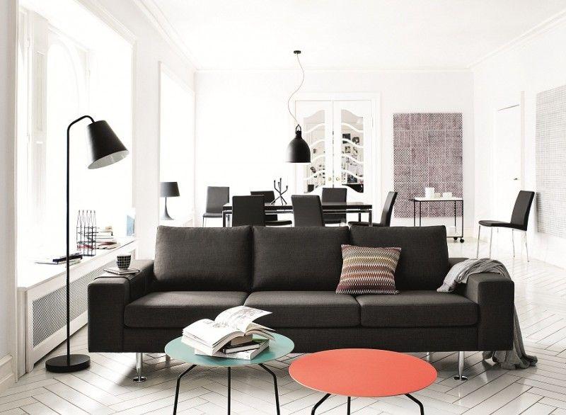 schwarze couch * moderne inneneinrichtung von boconcept * ideen ...