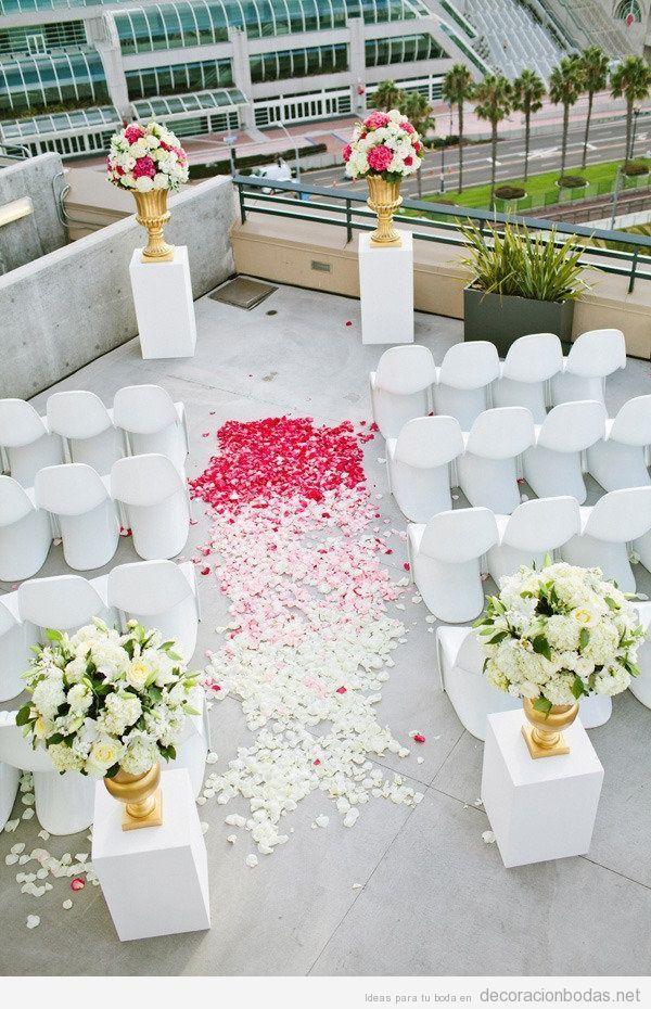 Decoración para una boda en el techo de un edificio decoracion de - bodas sencillas