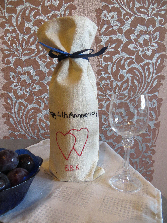 4th 12th Anniversary gift for men him linen anniversary