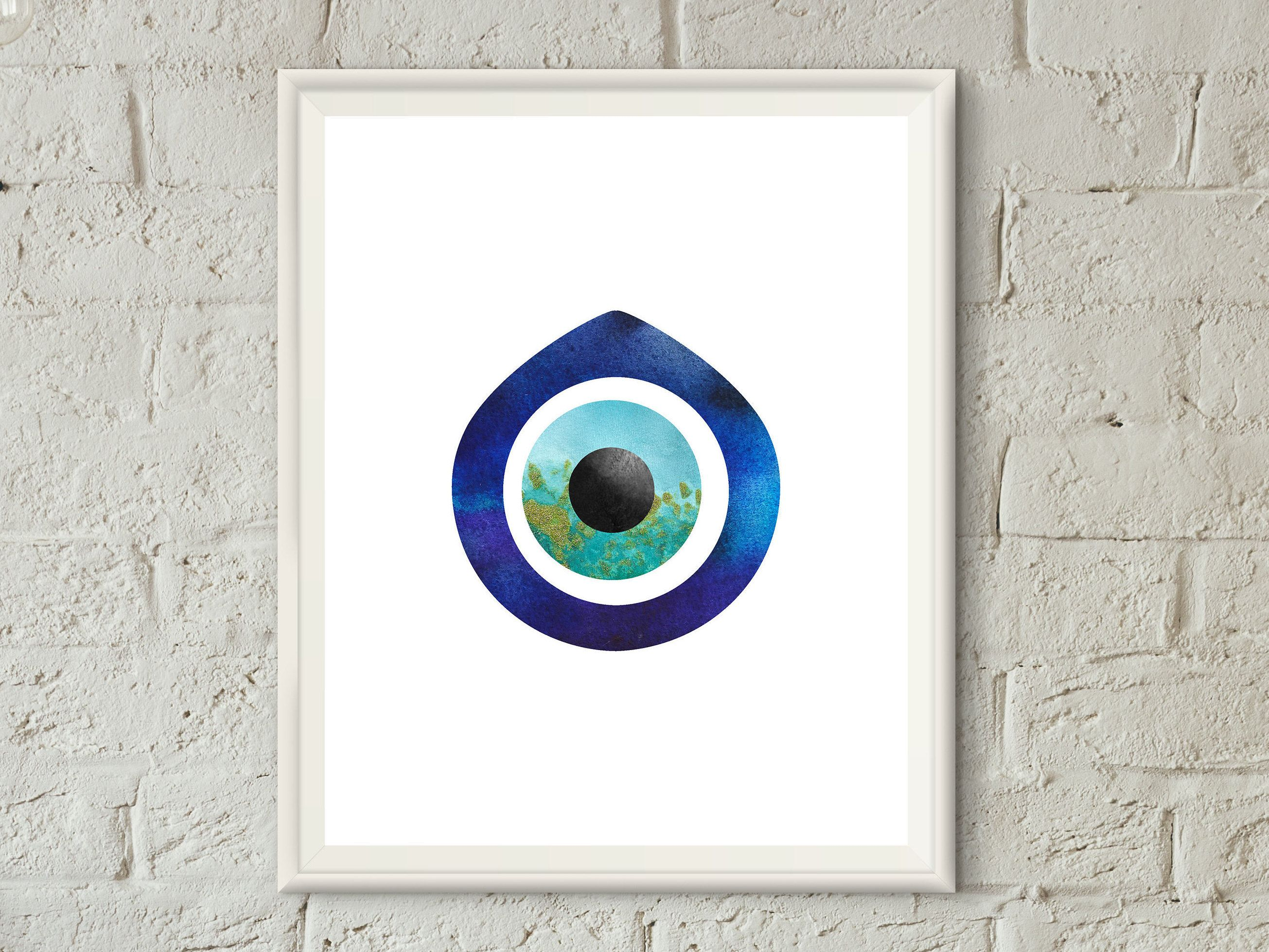 Evil Eye Wall Decor,Evil Eye Wall Art,Evil Eye Print,Bohemian Decor