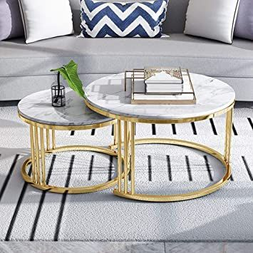 Made Goods Jozlyn Nesting Table Dark Faux Horn in 2021
