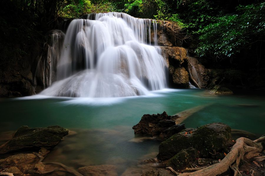 In my dream, The King of waterfall in Thailand : Huai Mae-Kamin waterfall