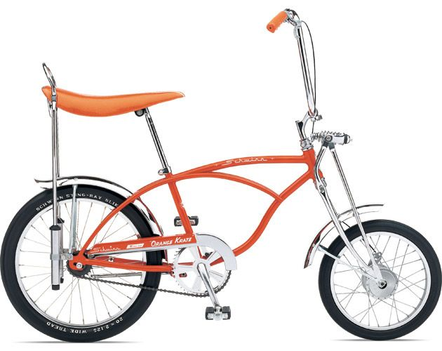 61acded9281 I loved the Schwinn Apple Crate bikes when I was a kid, but never owned one.  I bought 2 when Schwinn re-released them - red & purple! :)