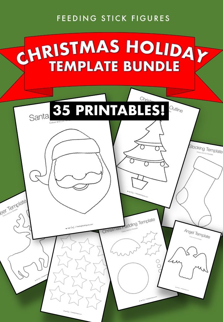 Christmas Template Bundle Christmas templates, Templates