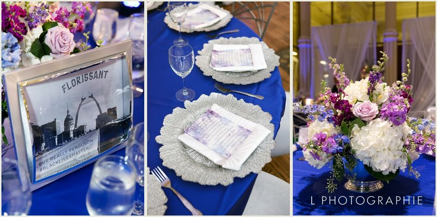 Royal blue satin linen silver glass flower chargers available at weinhardt party rentals catalog china junglespirit Gallery