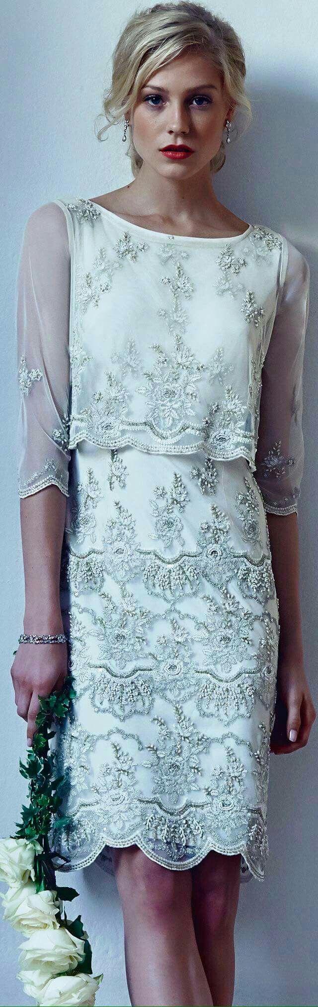Vestido encaje detalle del cuerpo con transparente wedding oct