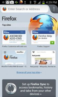 Download free Firefox Beta Varies Wit For Android Phone free mobile