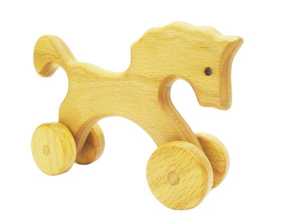 Learning Horse For Wooden Montessori Rolling Kids Toy byY7fg6