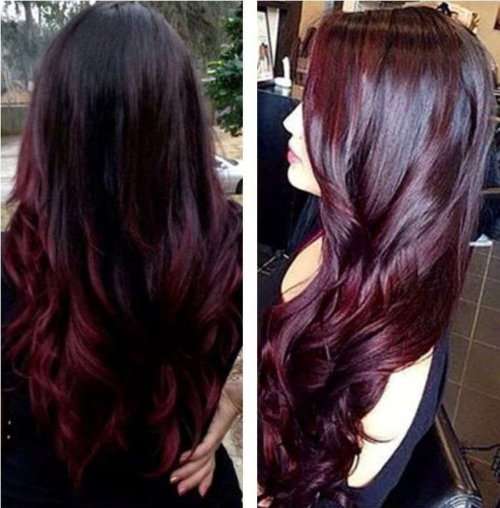 Blonde To Red Ombre Reverse Hair