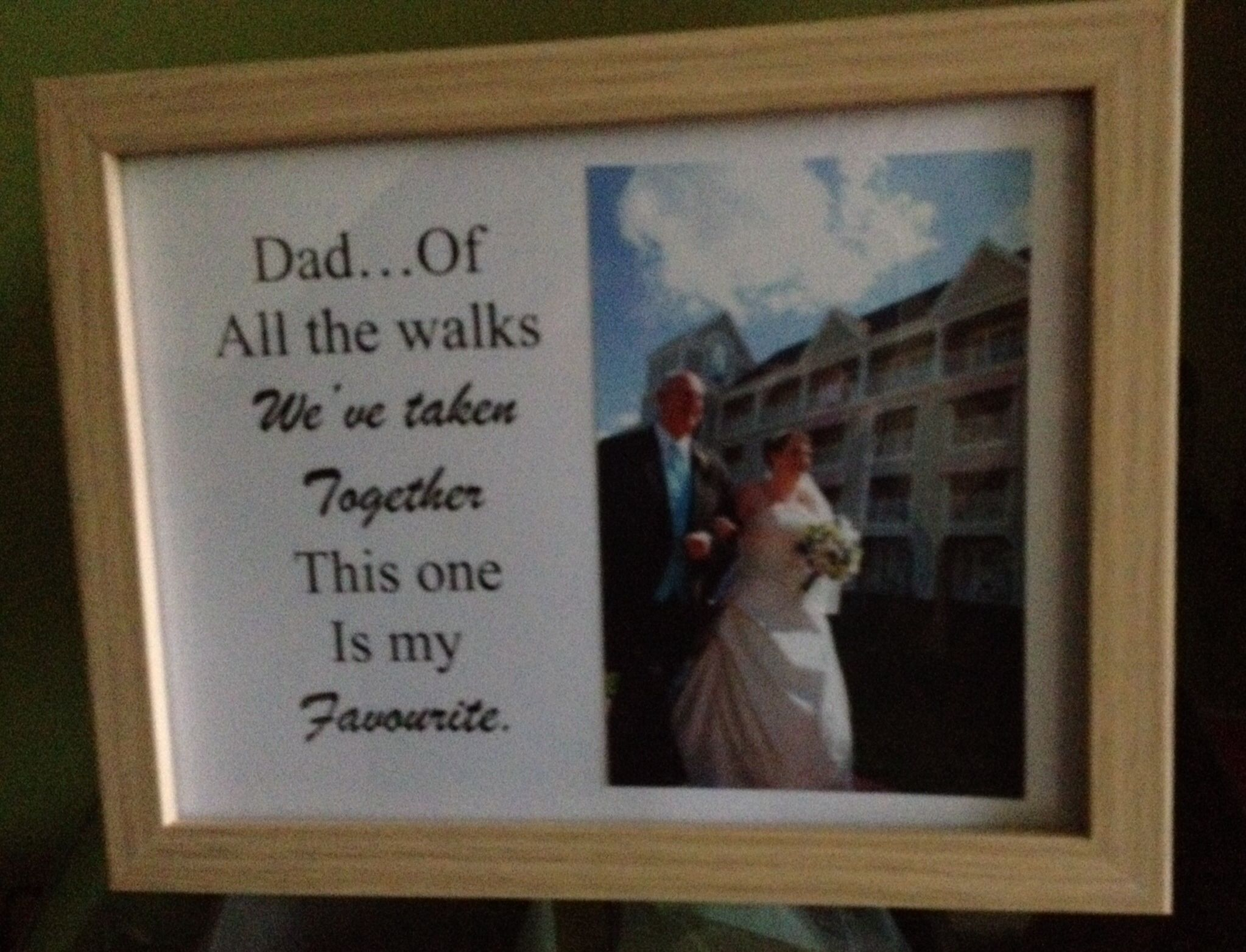 Photo frame made for my dad for his birthday. Much cheaper than the ones I've seen on Etsy!