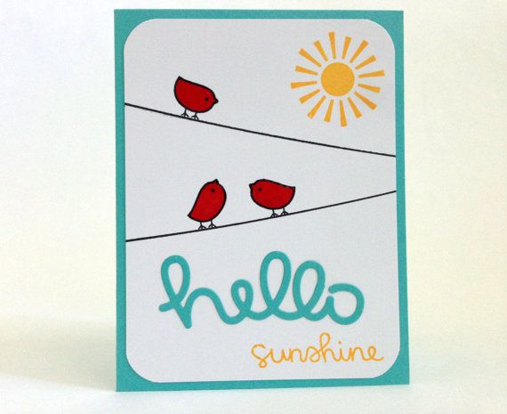 Hello sunshine card thinking of you card hello card long hello sunshine card hi there card cute hello card thinking of you card publicscrutiny Image collections