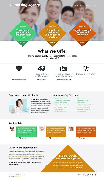 Nursing Agency Website Template Themes Business Responsive