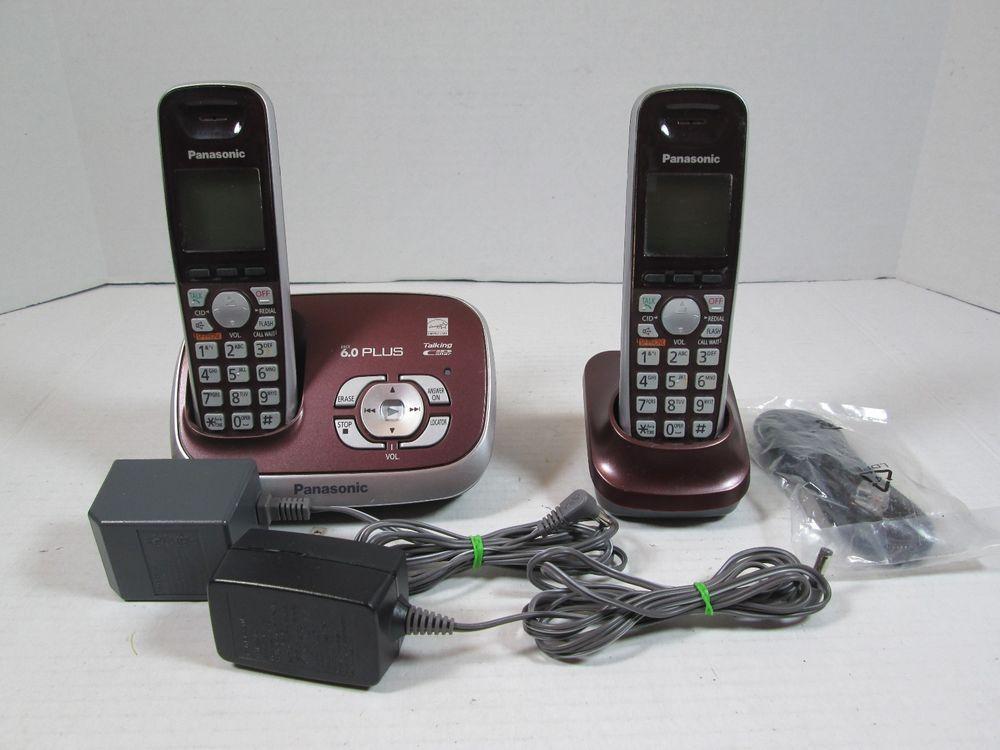 Panasonic KX-TGA653 DECT 6 0 Cordless Phone Handset (RED) KX