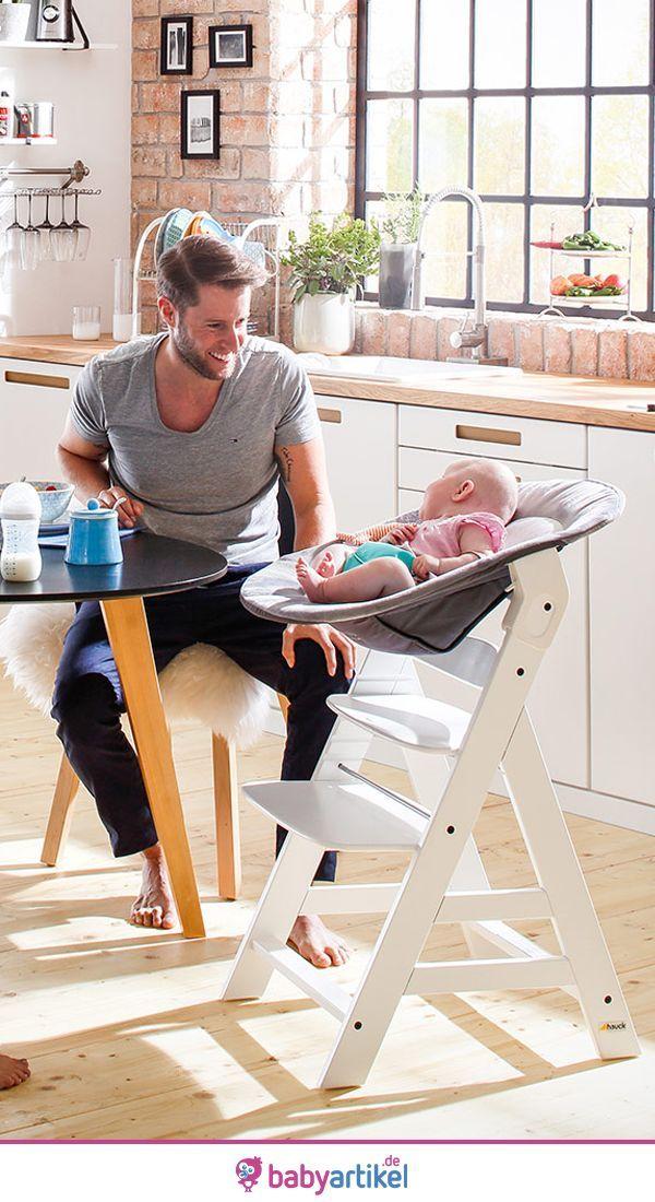 Hauck Alpha Plus White Newborn Set Highchair Newborn Use Rocker