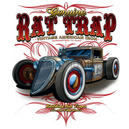 Genuine Rat Trap T-shirt Vintage American Iron Classic Car Garage USA Tshirt