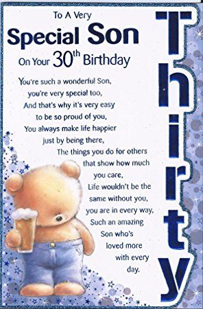 To A Very Special Son On Your 30th Birthday Happy Wishes Greetings
