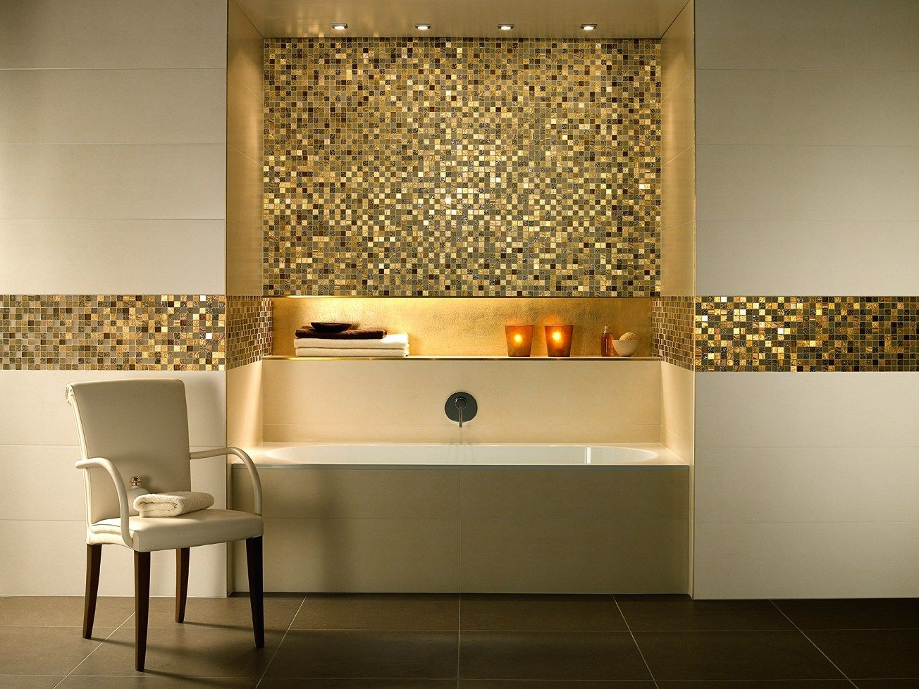 Revestimiento de pared suelo de gres porcel nico imitaci n for Revestimiento de piedra para banos