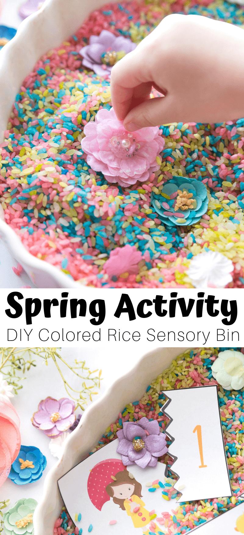 Spring Sensory Bin and Math For Preschoolers | Sensory ...