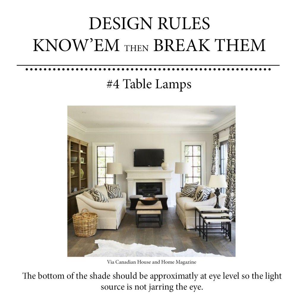 How High Should Table Lamps Be 3 0 R U L E S I N 3 0 D A Y S Pinterest