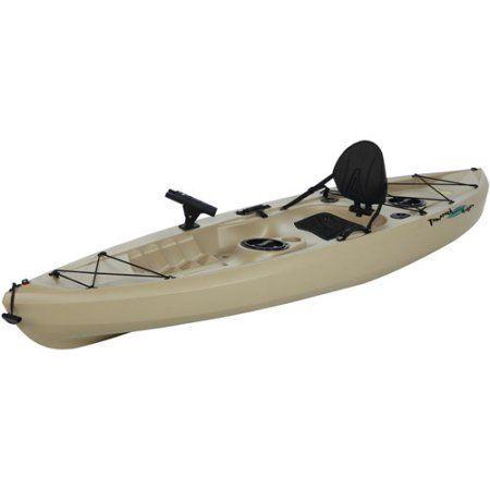 Lifetime 10 1 Man Muskie Angler Kayak Tan With Bonus