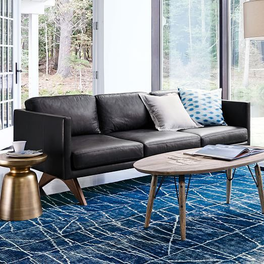Living Room Furniture Brooklyn Modern Designs 2016 Leather Sofa In Licorice Interiors Pinterest
