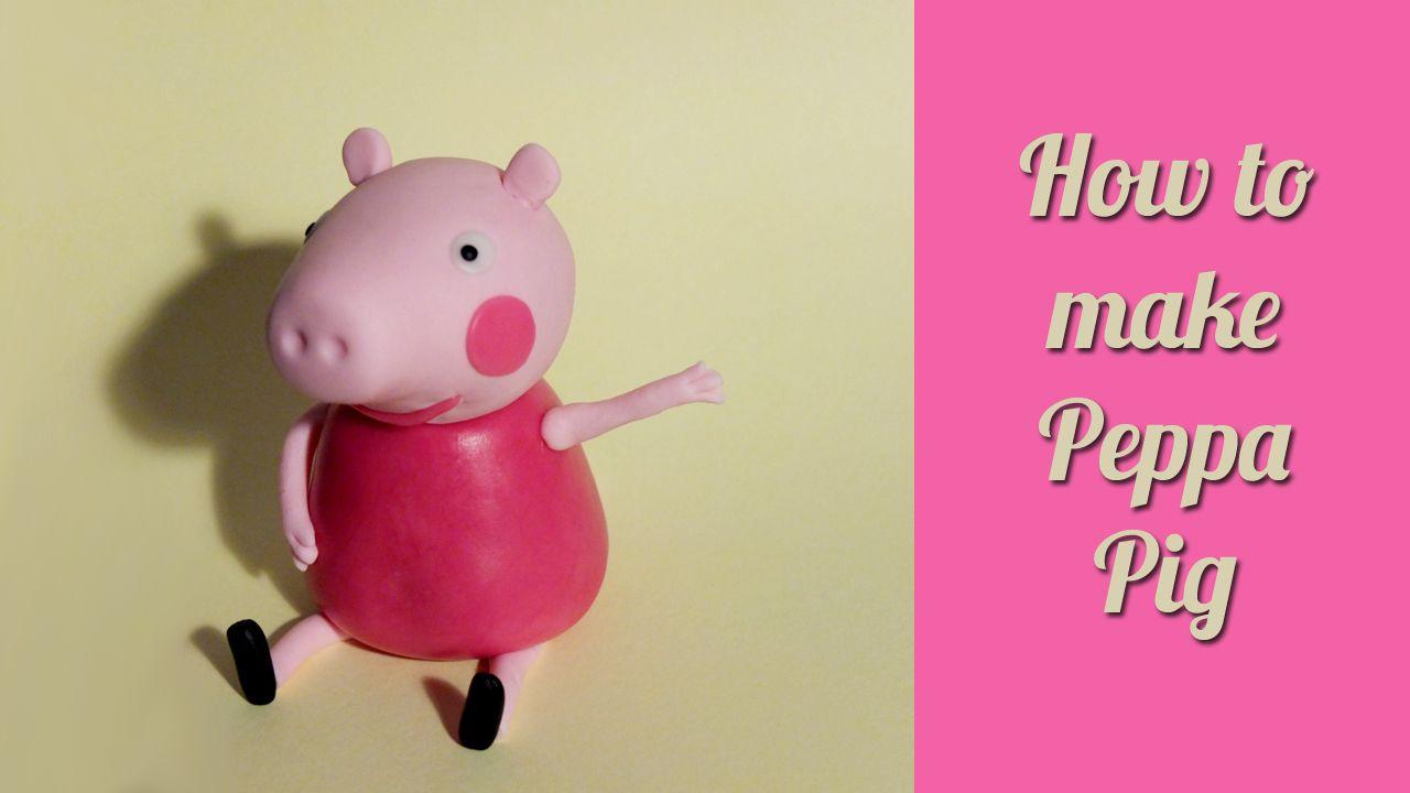 How to make fondant peppa pig figurine cake topper