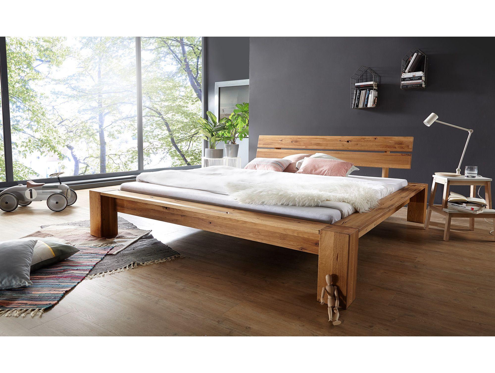 DAVINA Doppelbett Wildeiche geölt massiv Bett