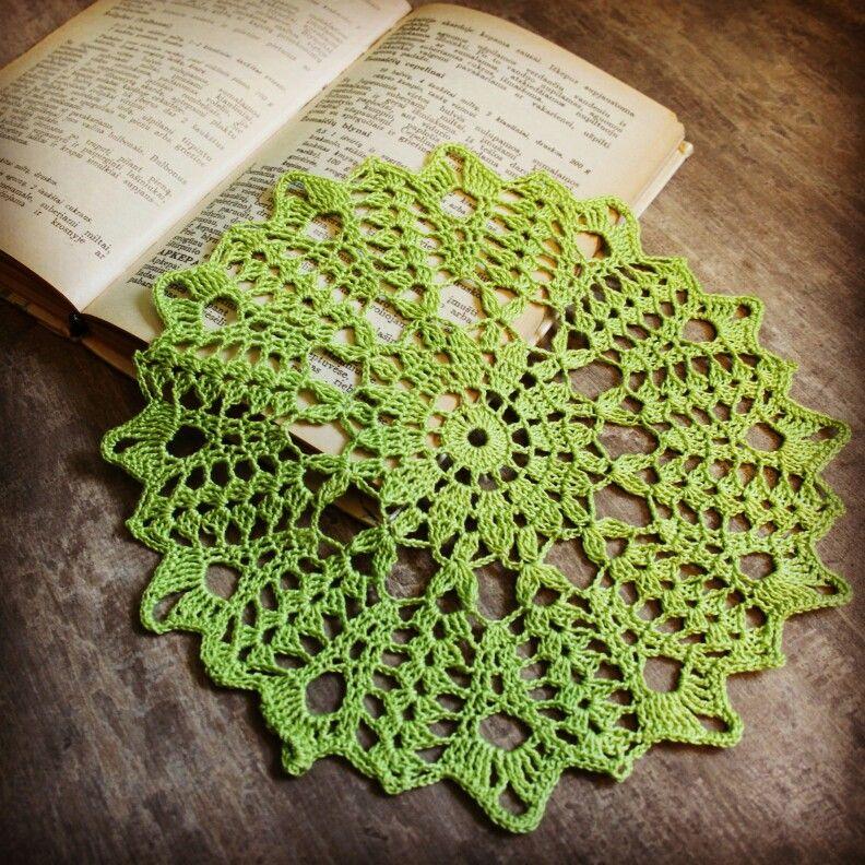 Green Crochet Doily Lace Doilies Home Decor Wedding Decor