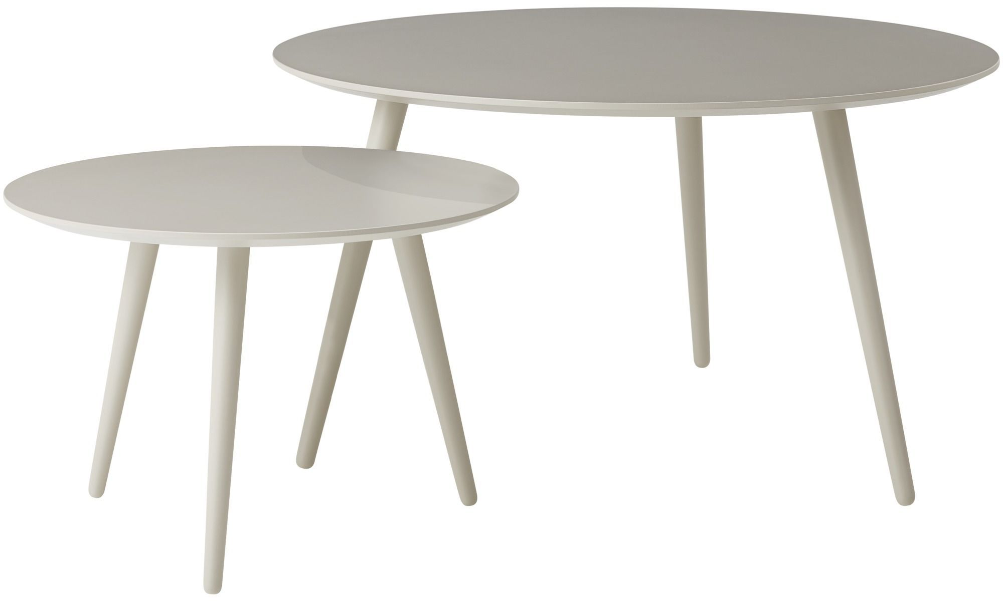 Now Time Couchtisch Ct 18 Coffee Tables Bornholm Coffee Table Round Gray Lacquered