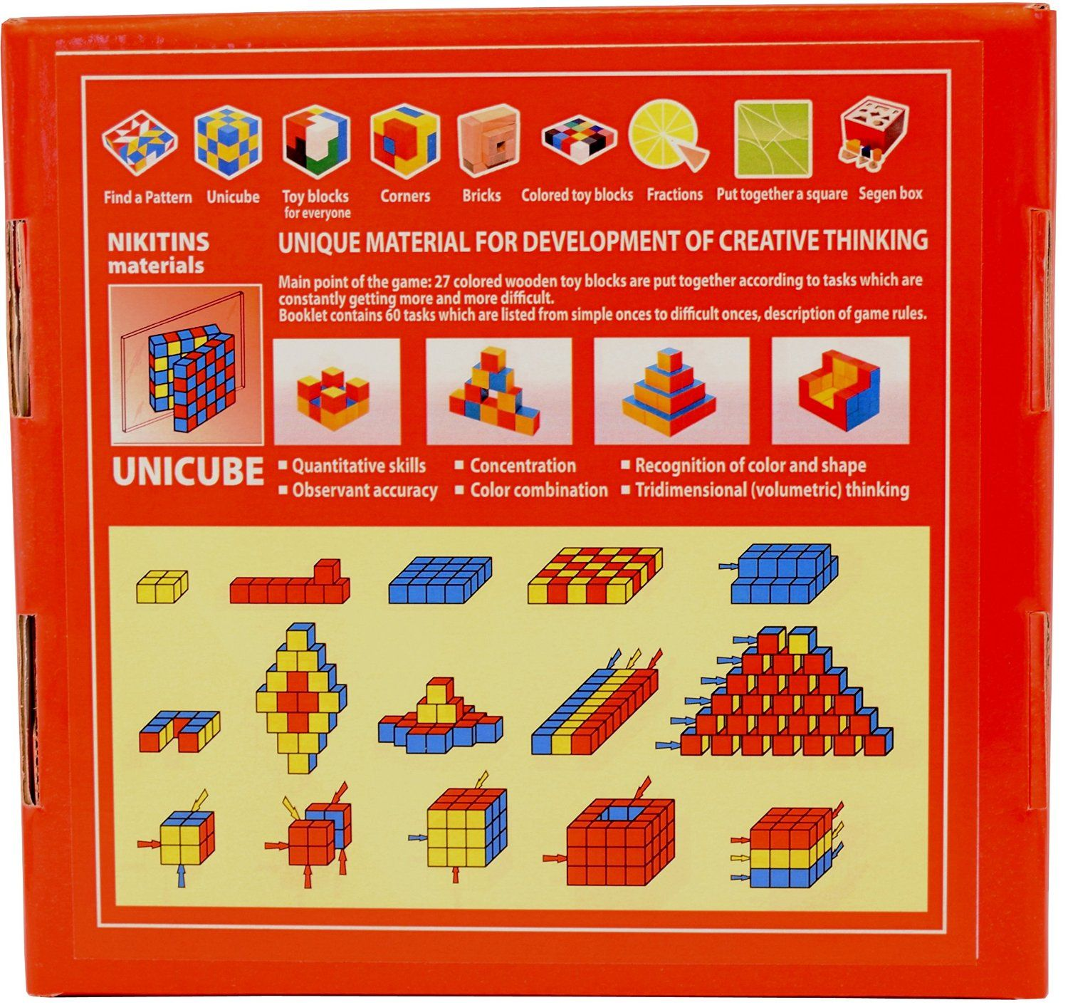 Amazon UNICUBE Nikitin Materials Educational Wooden Toy for