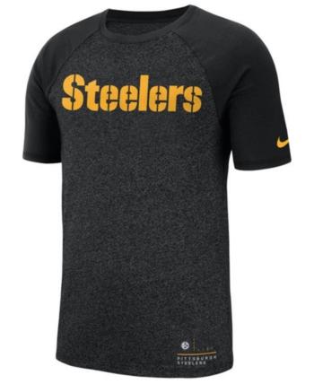 324b00698 Nike Men s Pittsburgh Steelers Marled Raglan T-Shirt - Black S in ...