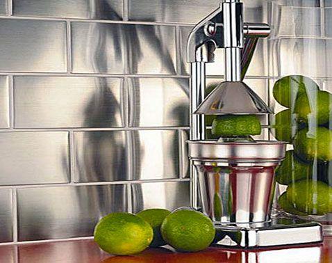 la crédence carrelage inox dans la cuisine c'est top ! | cuisine ... - Bandeau Inox Pour Cuisine