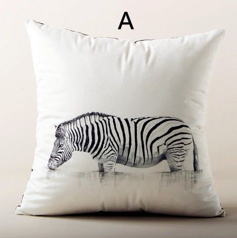 Zebra Pillows Couch