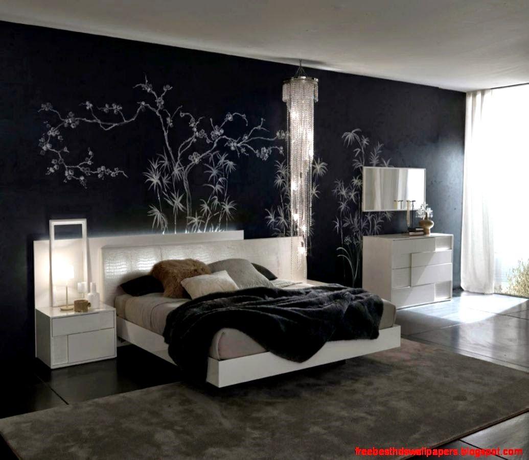 Modern Black Wallpaper Bedroom